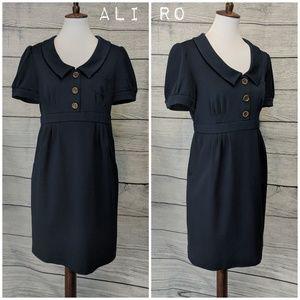 Ali Ro Empire Pocket Sheath Dress 👗 Navy blue